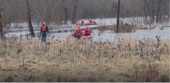 One person was rescued Sunday after a vehicle was stuck in Boone County at South Fork and Hance roads in Verona, Kentucky.