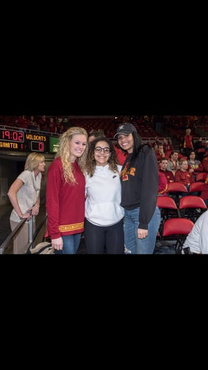 Madison Wise, Rae Johnson and Kristin Scott first met during a visit to Iowa State while in high school.