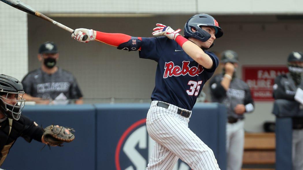 No. 4 Ole Miss baseball secures first SEC series win, beats Auburn 6-5