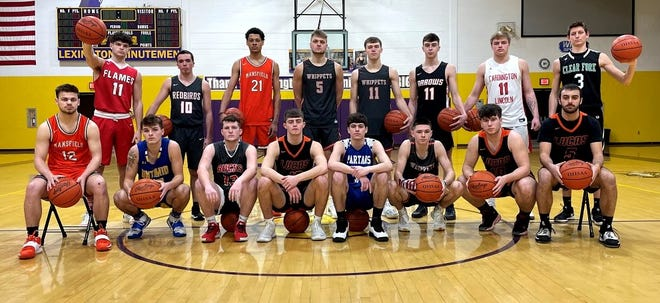 The South team for the 42nd News Journal All-Star Classic includes (back row, left to right) Logan Cyphers, Jacob Gessner, D'Angelo Chapman, TJ Pugh, Cody Lantz, Eli White, Trey Grininger, Ben Blubaugh, (Front row, left to right) Shad Creamer, Zach McCristall, Tyler Rose, Riley Gossom, Gavin Foltz, Grant Hiatt, Ethan Wallace and Ethan Sauder.