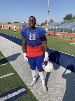 Former Escambia nose tackle Daishon Folsom with Hutchinson Community College in Kansas.