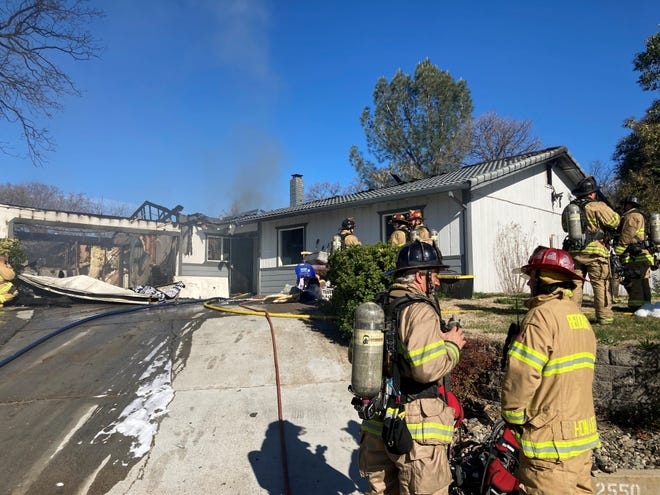 A fire in the 2500 block of Avola Street in east Redding caused about $315,000 damage to the home and fire officials believe the blaze was intentionally set.