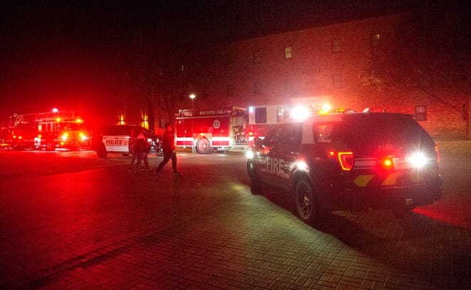 Wichita Falls firefighters respond to a dorm fire at MSU.