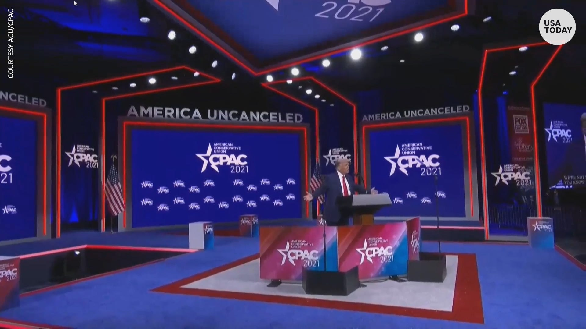 'Miss me yet?' Trump speaks to CPAC crowd in Florida, promises not to make a new party