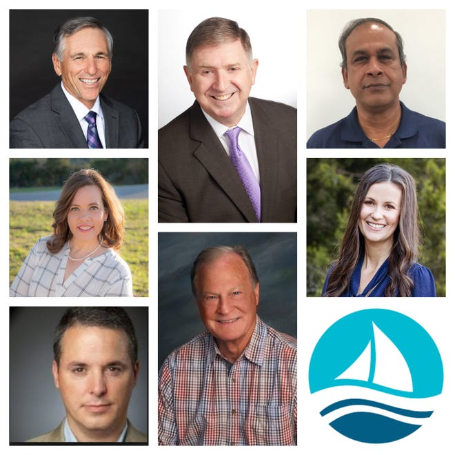 Alain Babin (top left) and Tom Kilgore (top middle) are running for Lakeway mayor. Sanjeev Kumar (top right), Gretchen Vance (middle left), Kelly Brynteson (middle right), Steven Clark (bottom left) and Keith Trecker (bottom middle) are running for three seats on the city council. The top three vote getters will win.