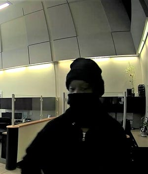 Macedonia police are looking for this individual, accused of robbing the Key Bank in Macedonia on Saturday.