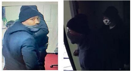 Akron police are trying to identify these two robbery suspects.