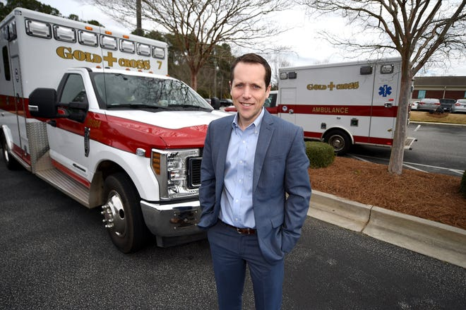 Gold Cross EMS VP Steven Vincent photographed at the Gold Cross EMS facility in Augusta, Ga., Monday morning March 2, 2020.   [PHOTO: MICHAEL HOLAHAN/THE AUGUSTA CHRONICLE]