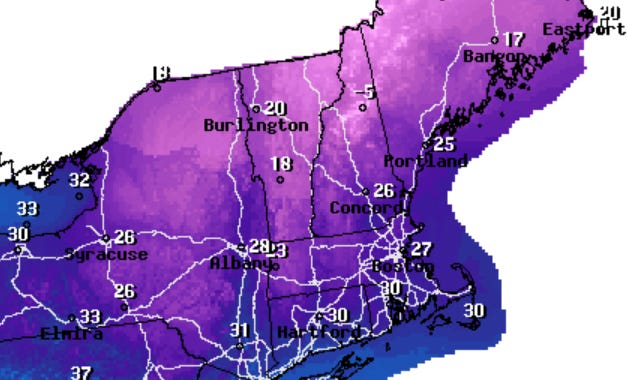 High temperatures will barely touch 30 degrees on Tuesday and wind chill will be a factor on Cape Cod.