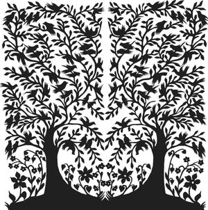 """Cape Cod artist Miroslawa Pissarenko's intricate paper cuts, like this """"Tree of Life"""" created in a style from her native Poland, are on exhibit at Cape Cod Museum of Art in Dennis, where they have been accepted into its permanent collection."""