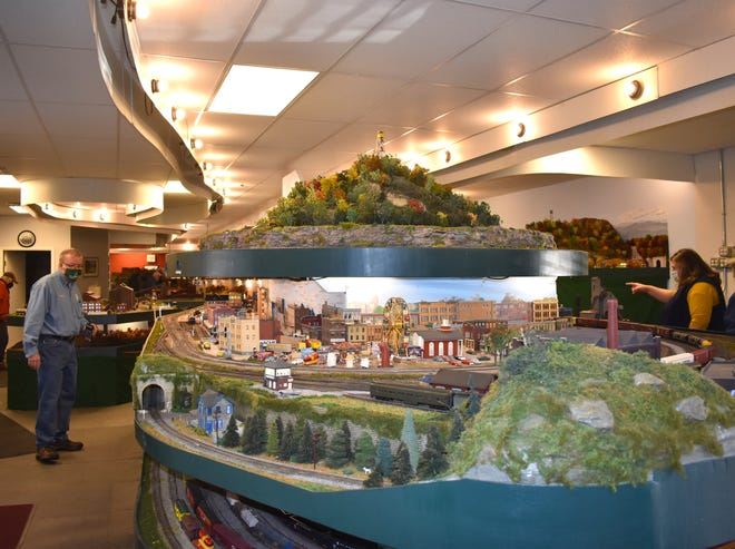 The front end of the model railroad display at the Blissfield Model Railroad Club, is pictured during the Saturday, Feb. 27 reservation-only open house of the club. The club's multi-leveled model train display is well over 2,300-square-feet.