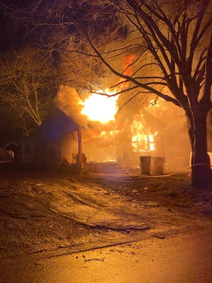 A Columbia home was engulefed by flames in the early morning hours of Sunday, Feb.  28, 2021.