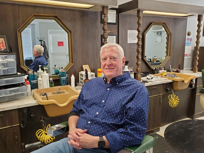 Kent Phillips, the sole barber and owner at Midway Barber Shop, is leaving the profession in March, which also means the barber shop will close. He has cut the hair of mostly boys and men in the community for nearly 43 years. Phillips worked next to the barber shop's founder, John Faust, for most of his career until Faust died in 2016.