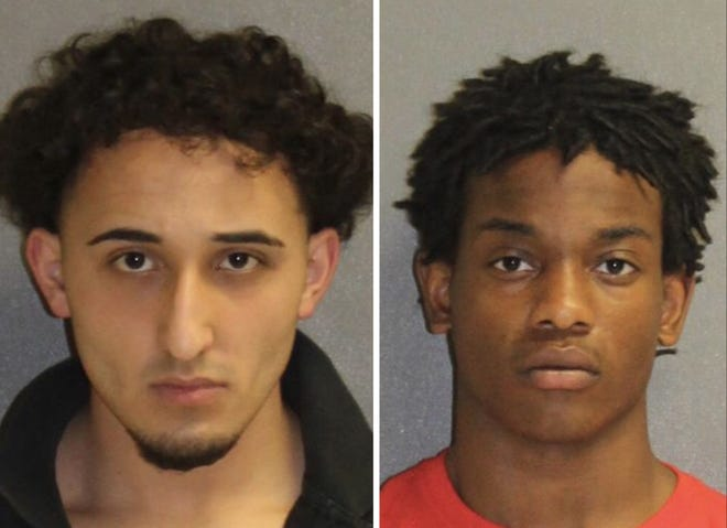Volusia County deputies said these 18-year-old Pine Ridge High School students, Julian Martinez, left, and Samuel Rivers, and a juvenile, caused a ruckus on campus, disrupting classes and punching a school administrator.