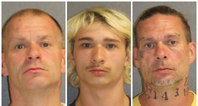 Volusia County deputies said Rosario Nola Sr., from left, his son, Rosario Nola Jr., and Nola Sr.'s brother, Norman Lindenau, invaded a home, beat up a couple and stole their medical marijuana.