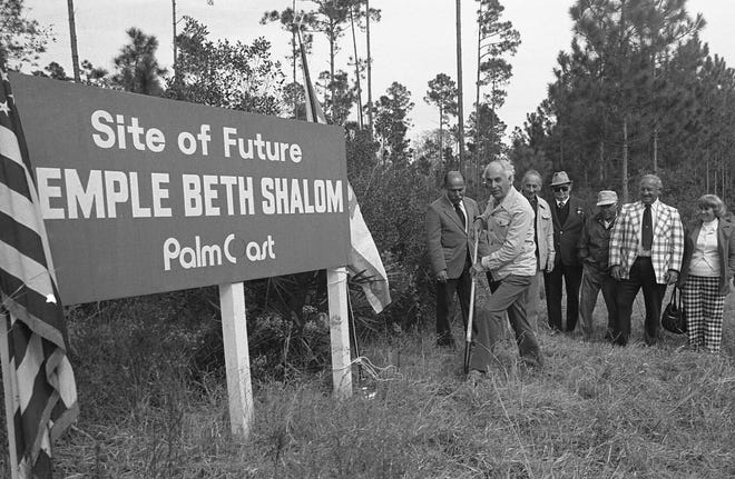 Groundbreaking for the Temple Beth Shalom in Palm Coast took place in 1979.