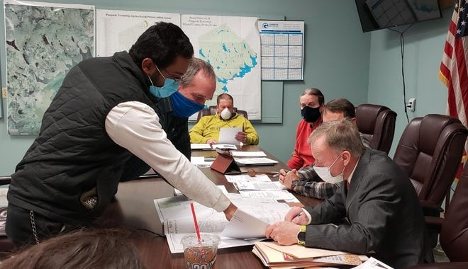 During a conditional use hearing February 11, Theo Zumpone, the owner of Zoom-Pony and Lou Cozza from Kiley Associates presented plans to the Paupack Board of Supervisors to improve Zumpone's fabrication business in the township.