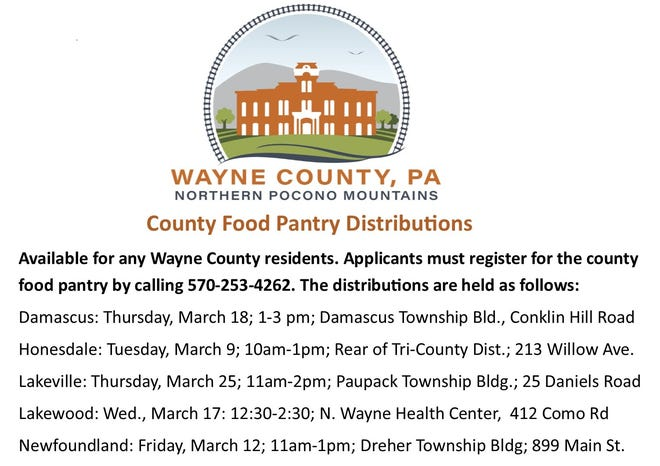 Applicants must register with the County prior to picking up food.