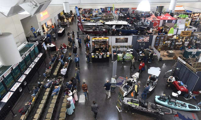 """The 2019 Erie Sport & Travel Expo is pictured at the Bayfront Convention Center. This year's show has been combined with the RV Show to form the RV & Sport Expo. The show, which is now a """"vendor shopping event"""" with no seminars, will take place Friday through Sunday at the Convention Center."""
