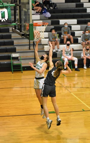 Sophomore Annie Wirth was a key player in Geneseo's win over Galesburg on Friday, Feb. 26.