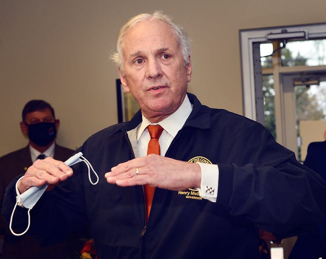 South Carolina Gov. Henry McMaster speaks at a ribbon-cutting for the Northside Medical Clinic in Spartanburg on March 1.
