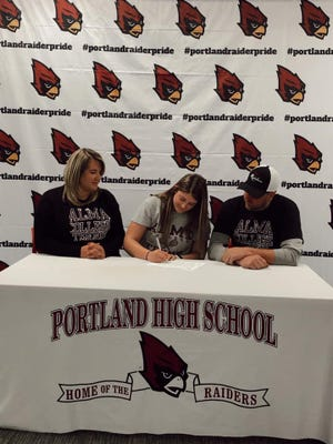Portland's Kayla Weller committed to Alma College for tennis.