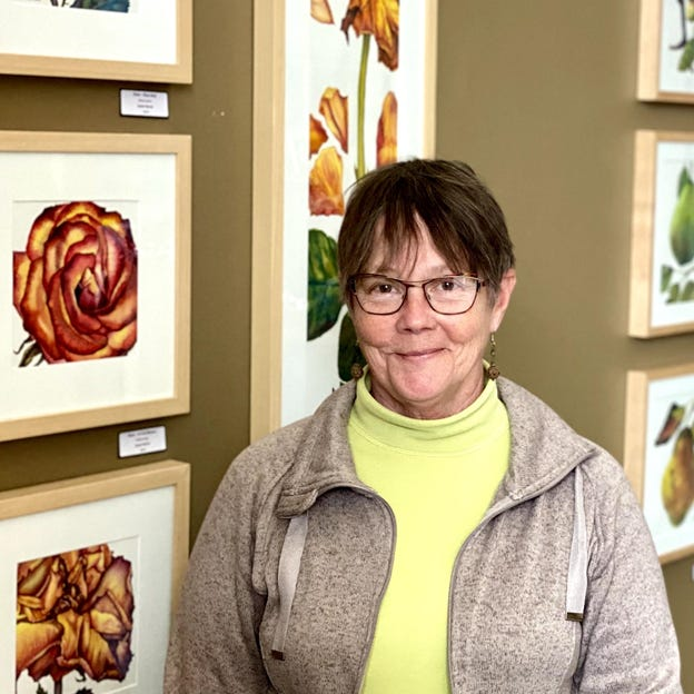 North Newton artist Susan Bartel's work is on display at the McPherson Public Library