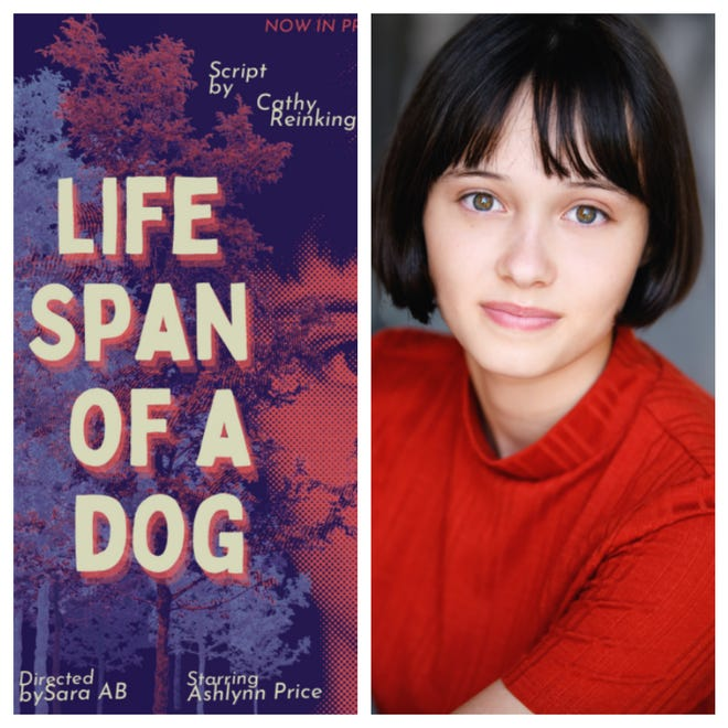 """Ashlynn Price, 14, a McIntosh eighth-grader who attends P.K. Yonge Developmental Research School in Gainesville, is working with casting director and acting coach Cathy Reinking on the short film """"Life Span of a Dog."""" [Photos submitted]"""