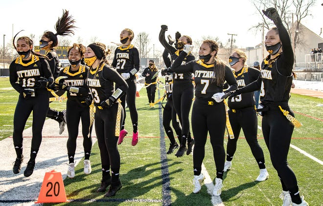 The Ottawa University women's flag football team opened its first season with two big wins. Ottawa topped Kansas Wesleyan 38-6 Sunday for its second win. The program debuted a week ago with an 84-0 win over Milligan University.