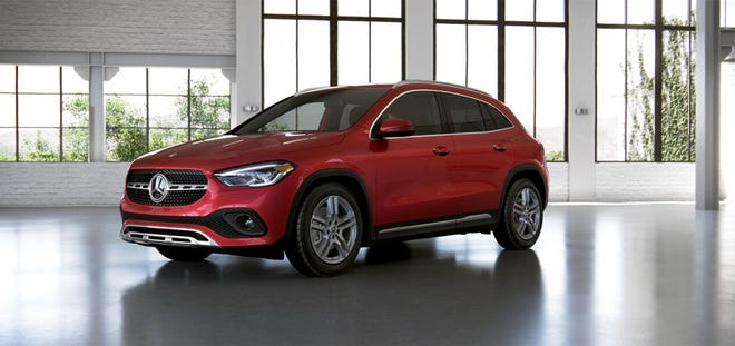 The Mercedes-Benz GLA 250 is powered by a new 2.0-liter turbocharged four-cylinder engine that makes 221 horsepower and 258 pound-feet of torque, or twisting force.