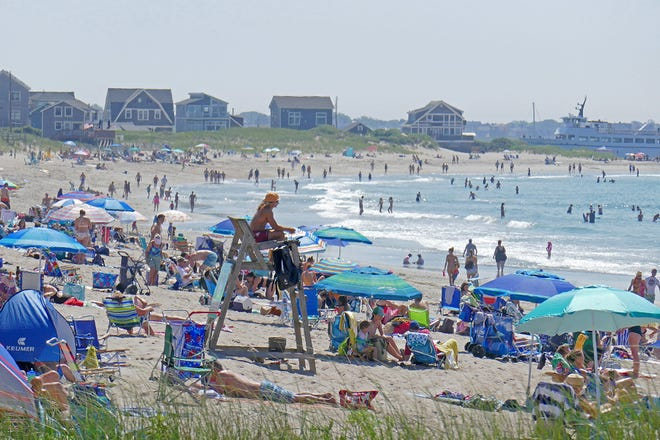 The scene last summer at East Matunuck State Beach. Parking was reduced at major state beaches last year to reduce crowds.