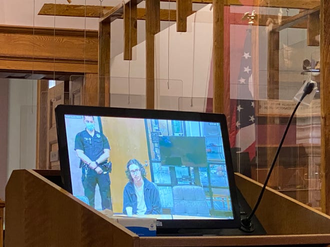Lee V. Berry, 20, appeared at a hearing Monday through a video link between a mental health facility and Stark County Common Pleas court. Berry is charged with aggravated murder in the 2019 death of 64-year-old Glenn L. Anderson.