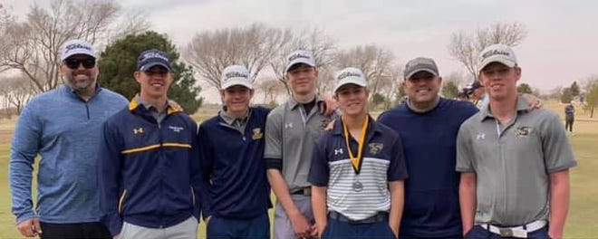 The Stephenville High School boys golf team took part in the regional preview held Friday and Saturday in Lubbock. Senior Hunter Rudloff, third from right, had a round of 73 on Friday and 74 on Saturday to take second overall. The team shot a 316 overall on Saturday.