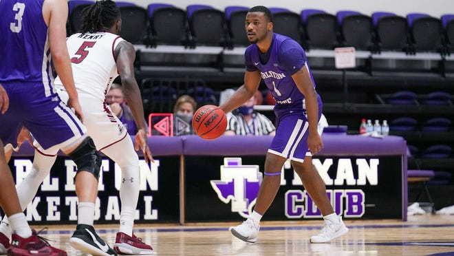 Montre Gipson, Tarleton's leading scorer on the season, poured in a game-high 19 points to go with five rebounds and a game-high five assists while playing all 40 minutes with zero turnovers in the Texans' 64-55 win Saturday over New Mexico State.