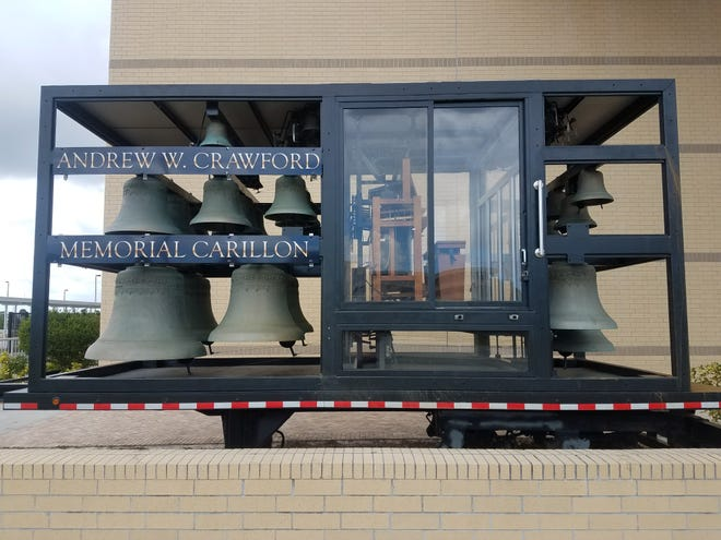 The four-ton, 48-bell Andrew W. Crawford Memorial Carillon