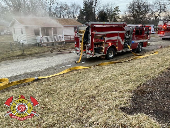 Two persons were displaced from their home in the 700 block of House fire on North Park Avenue Sunday afternoon. [Springfield Fire Department]