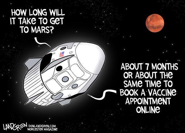 Landgren cartoon: Vaccine appointments