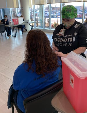 Around 745 teachers and education staff from various school participated in a COVID-19 vaccination clinic Thursday and Friday hosted by SSM Health St. Anthony Hospital-Shawnee and the Pottawatomie County Health Department.