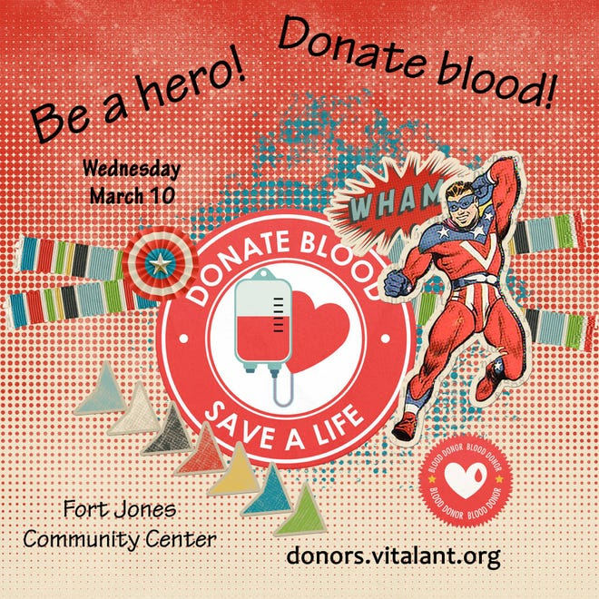 Blood drive set for March 10 in Fort Jones.