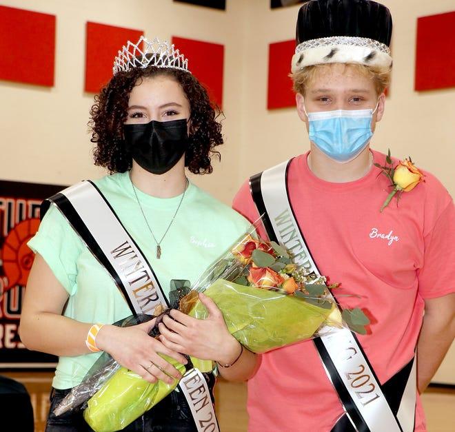 "Sophia Merchant and Bradyn Webb were crowned Friday as royalty for Sturgis High School's ""Winterfest."""