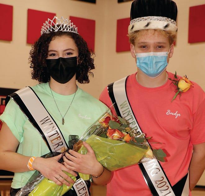 "Sophia Merchant and Bradyn Webb were crowned royalty Friday for Sturgis High School's ""Winterfest."""