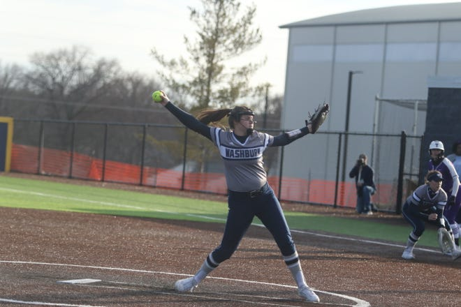 Washburn pitcher Raegen Hamm was 4-0 with 1.54 ERA in five appearances with 20 strikeouts in 22 2/3 innings pitched with two complete games and a complete game shutout over the weekend, leading the Ichabods to a 5-0 showing at the Washburn Invitational.