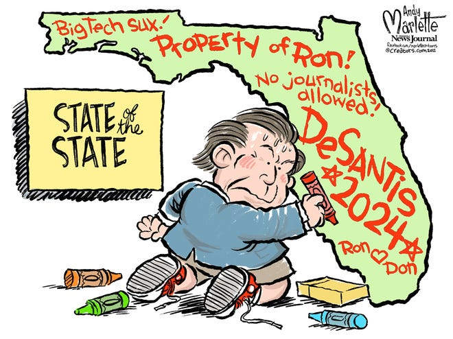 State of the State as envisioned by Gov. DeSantis.