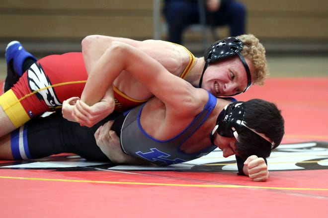 Vince Giordano was one of five Big Walnut wrestlers who qualified for the Division I district tournament March 6 and 7 at Hilliard Darby. At district, the top four finishers in each weight class advance to state March 13 and 14 at Darby.