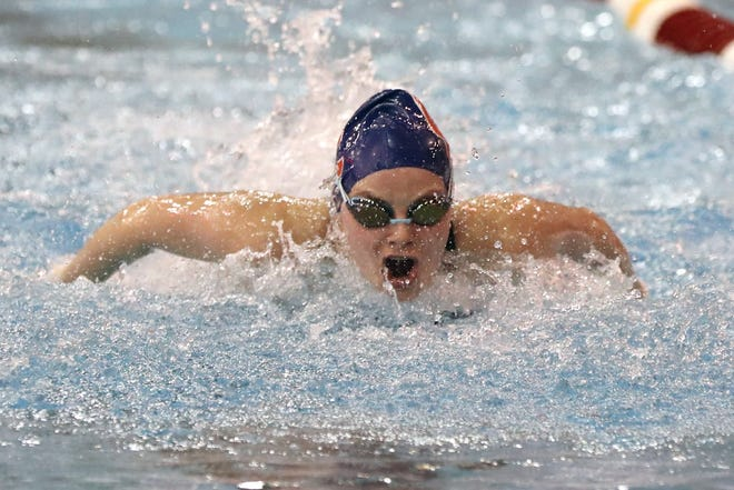 Competing in her third Division I state meet, Grove City junior Hannah Routh finished ninth in the 100-yard butterfly and 22nd in the 100 backstroke on Feb. 26 at Branin Natatorium in Canton.