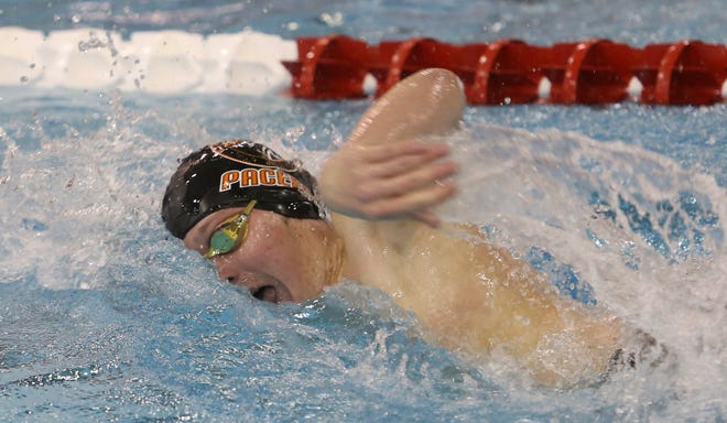 Senior Connor Green led the way for the Delaware Hayes swimming and diving program at state. He finished 15th in both the 200-yard freestyle and the 500 free.