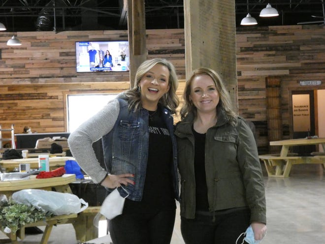Alyssa Huss, left, and Vanessa Smith will operate The Hub at Village Square, a wedding and event venue.