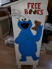 'Bookie Monster' offers kids free books on an ark painted by Collingswood resident and Rowan graduate student Gabriella Locantore.