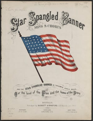 """Cover of the sheet music to """"The Star-Spangled Banner."""""""