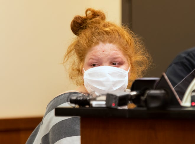 Brittany Gosney, 29, was arraigned for the murder of her son, James Robert Hutchinson, 6, Monday, March 1, 2021 in Middletown Municipal Court. On April 26, she was found competent to stand trial on those charges.